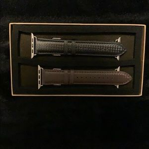 Real Leather- Watch Band For Apple Watch 2pc